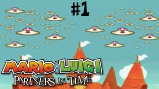 Mario & Luigi: Partners in Time - Gameplay Walkthrough - Part 1 - TROUBLE IN THE PAST [NDS]