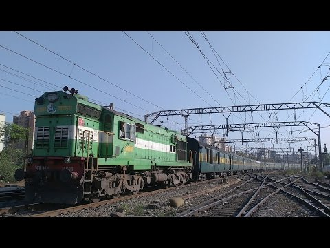 Kerala Beauty Green Parrot Liveried ALCo with Kochuveli Garibrath | Indian Railways