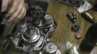 Мопед АльфА-сборка двигателя(1часть)