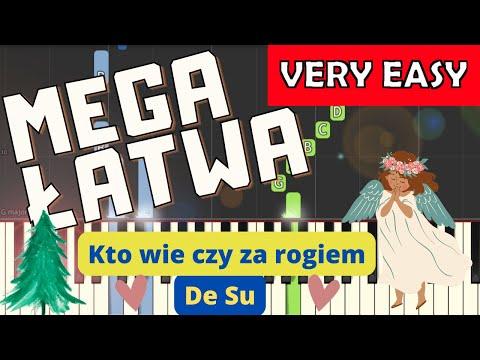 🎹 Kto wie czy za rogiem (De Su) - Piano Tutorial (MEGA ŁATWA wersja) 🎹