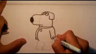 How to Draw Brian from Family Guy - Easy Things to Draw