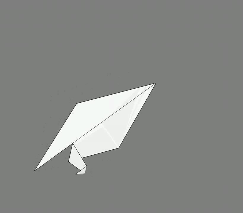Оригами схема сборки попугай