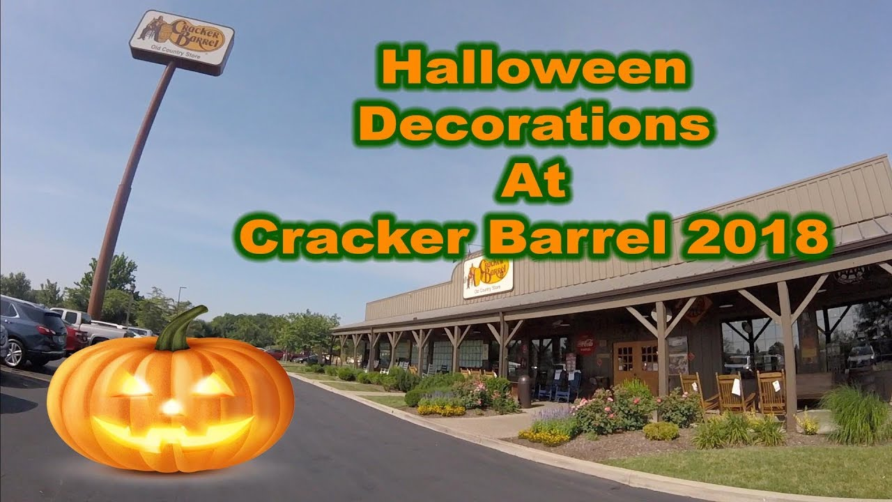 halloween decorations at cracker barrel 2018