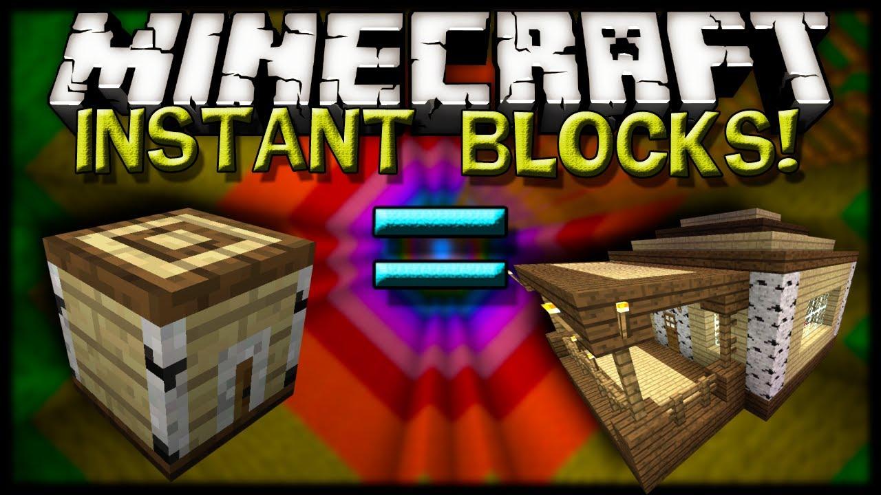 Скачать Instant Blocks для Minecraft 1.6.2