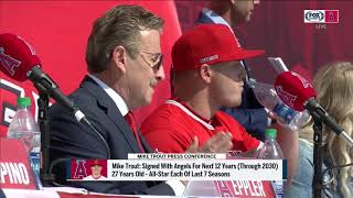 Billy Eppler explains Mike Trout's 12-year contract