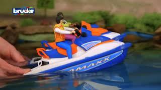 Гидроцикл с фигуркой спасателя Bruder Toys Personal Watercraft Driver #63150