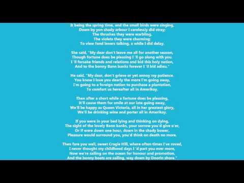 Craigie Hill Lyrics - Folk & Traditional Song Lyrics