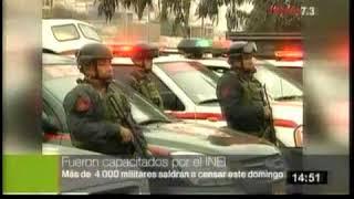 MIEMBROS DE LAS FFAA SALDRAN A CENSAR   TV PERU