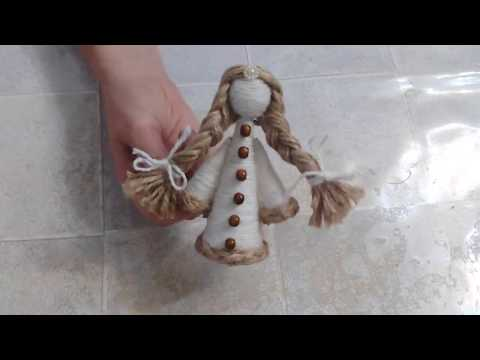 Куколка из шерсти, джута и картона своими руками. DIY/рукоделие