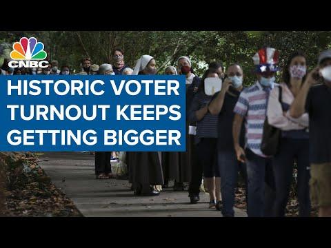 Historic voter turnout keeps getting bigger