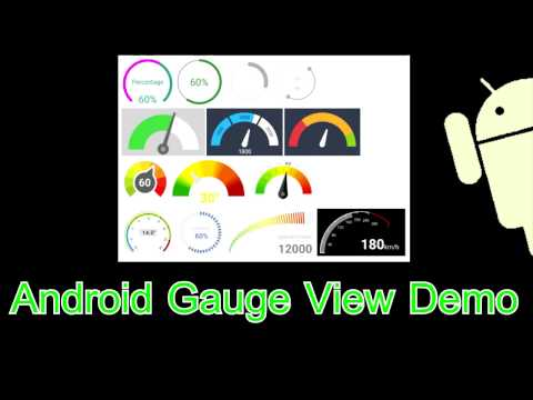 Android Arduino Control: Android Gauge View Example Code