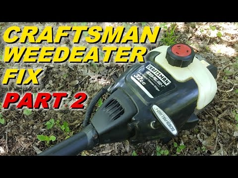 Craftsman Weedeater won't start part 2  carb and fuel lines - YouTube
