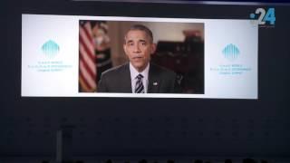 فيديو|«أوباما» مادحًا حاكم «دبي»: الدول تزدهر باستثمارها فى صحة الإنسان وتعليمه