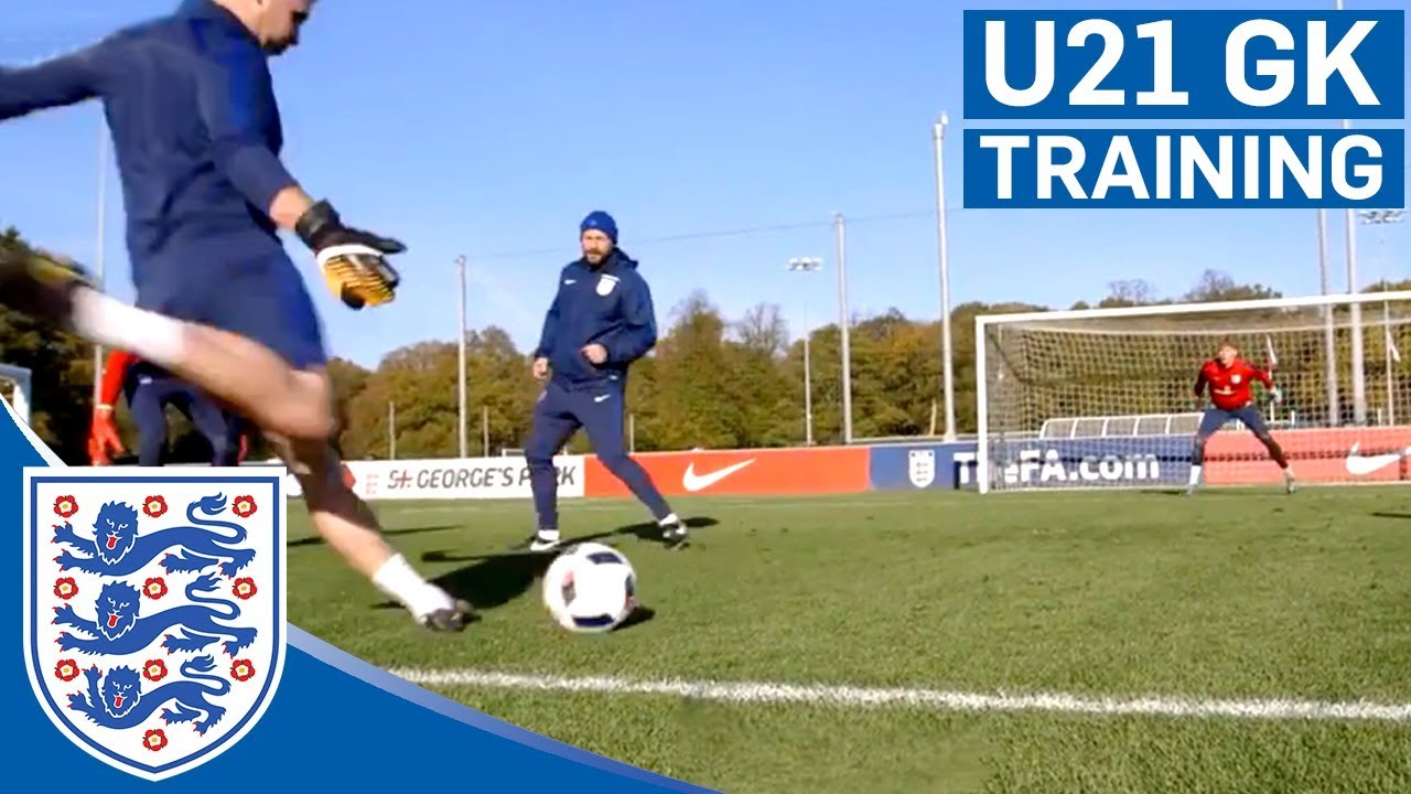 3 Goal Reaction Challenge with Gunn, Woodman and Henderson | U21 | Goalkeeper Training
