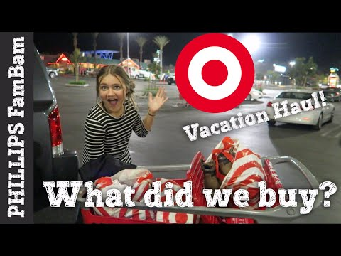 WHAT DID WE BUY FROM TARGET? | FAMILY THANKSGIVING VACATION SHOPPING HAUL | PHILLIPS FamBam Vlogs