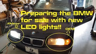 BMW DIY Install: JDMastar NX 9006 LED Lights Tutorial on 328ic E36 (1990 to 1999)