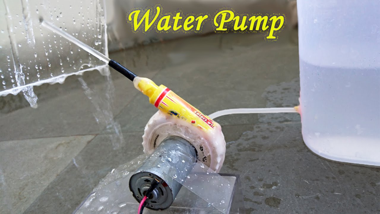 How To Make A Water Pump Using Bottle And Sketch Pen
