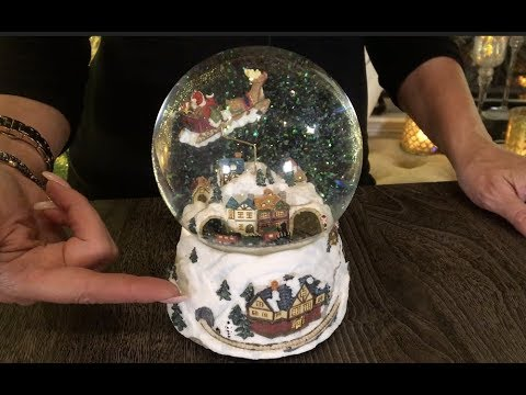 Santa's Sleigh Ride Musical Snow Globe