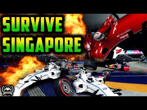 SURVIVE SINGAPORE - Realistic Damage F1 2014 (F1 2015 MOD)