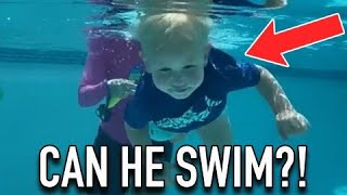 CAN the BABY SWIM?! POOL SAFETY!!