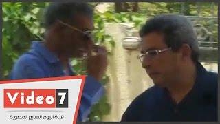 محمود سعد وسامح الصريطى وسيد رجب فى جنازة محمد خان
