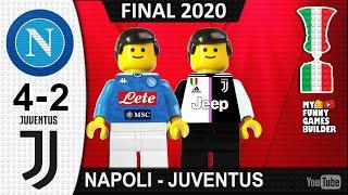 Finale Coppa Italia 2020 • Napoli vs Juventus 4-2 • Penalty Shootout Final 2020 • Lego Football Goal