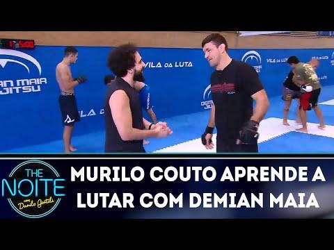Murilo Couto aprende a lutar com Demian Maia  The Noite 170419