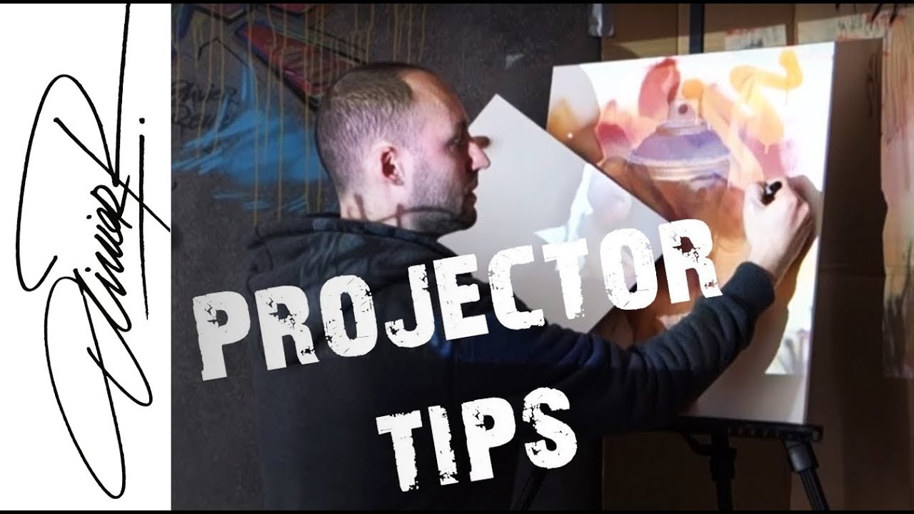 How to trace a picture part 1 projector funnydog tv for Best projector for mural painting