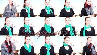 Schal richtig binden - 15 Arten! Schal und XXL Schal - how to wear a scarf thumbnail