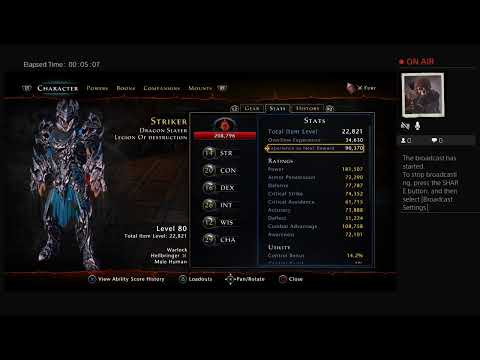 Strikers warlock build so far