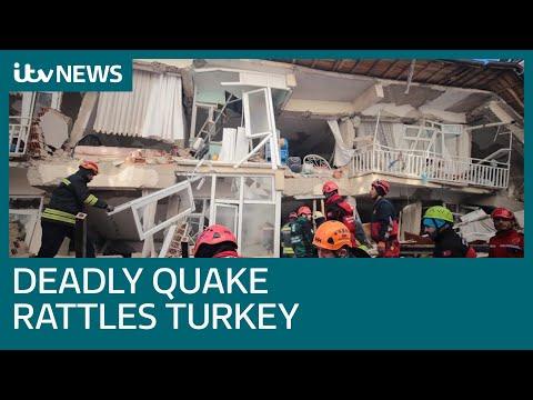 Turkey earthquake: Death toll rises with 1,000 people injured | ITV News