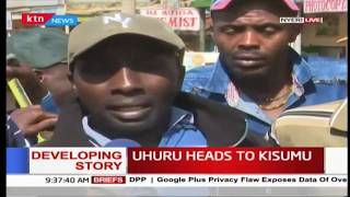 Nyeri residents happy with how Kisumu residents have treated President Uhuru