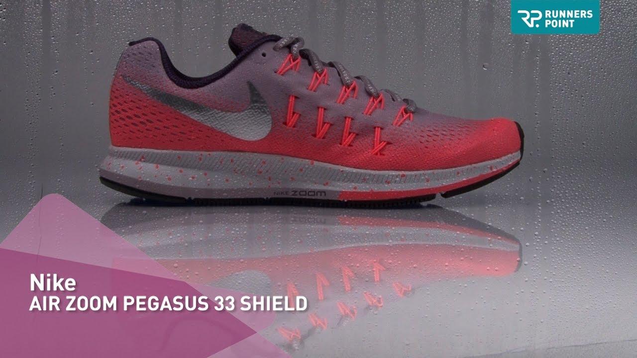 bea222deca32 Nike AIR ZOOM PEGASUS 33 SHIELD - YouTube