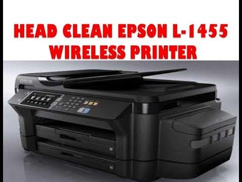 Head Clean Epson L 1455 Printer Manually  !! Wireless Printer L 1455 Printer
