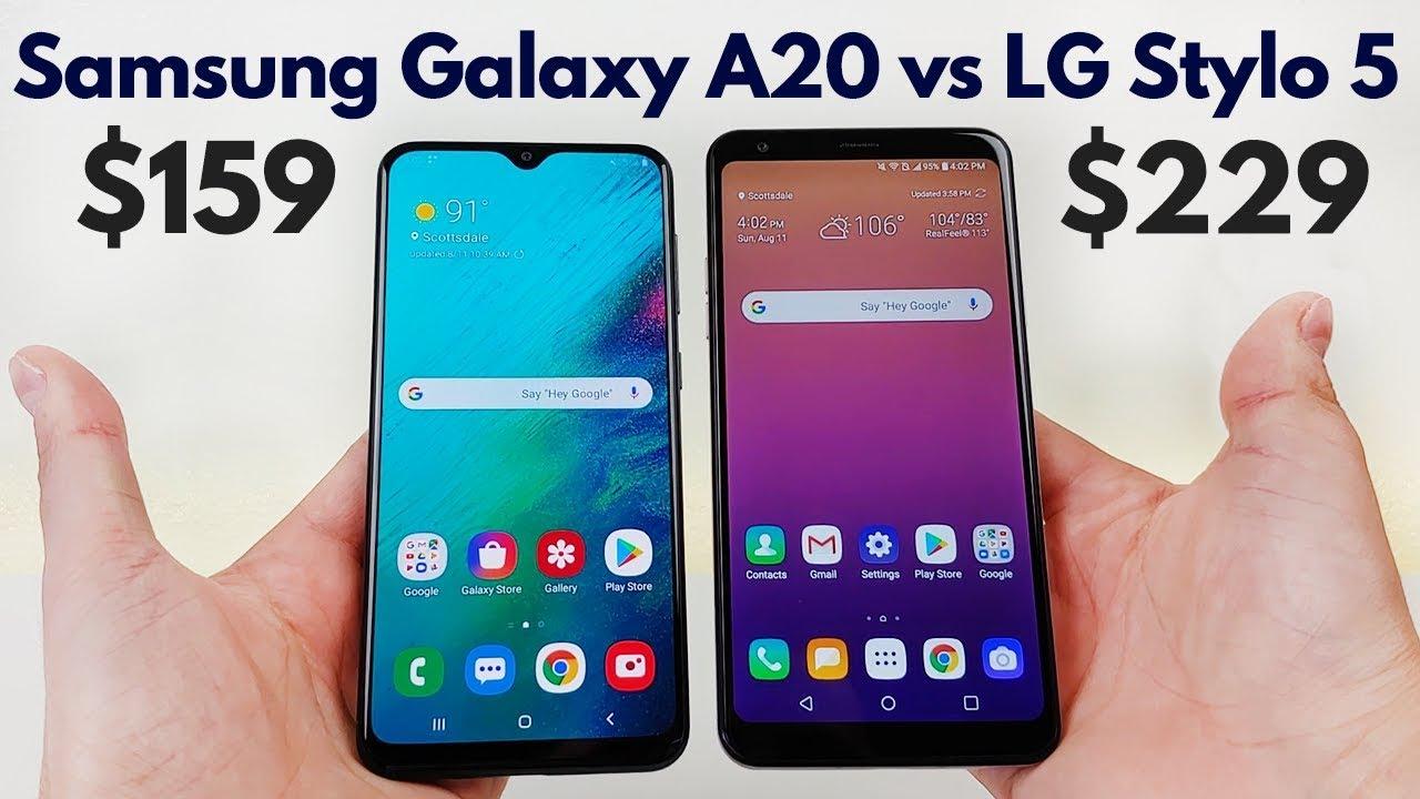 Samsung Galaxy A20 vs LG Stylo 5 - Who Will Win?