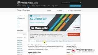 Promover contenidos en WordPress con GC Message Bar