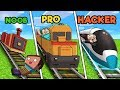 Minecraft - NOOB vs PRO vs HACKER - TRAIN STATION!