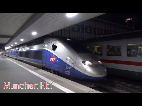 DB And SNCF TGV Trains In Munchen Hbf / DB Und SNCF TGV Züge In München Hbf