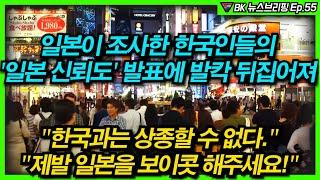 일본이 조사한 한국인들의 '일본 신뢰도' 발표에 발칵 …