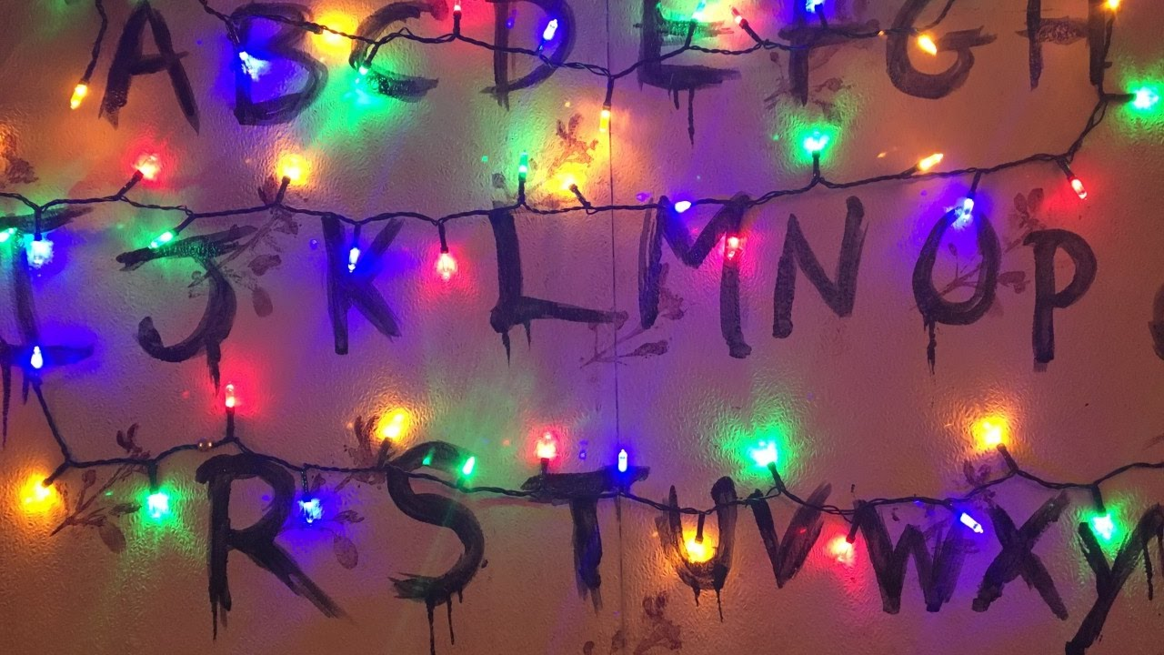 stranger things wall art - Stranger Things Christmas Decorations