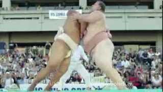 OFFICIAL VIDEO - At the 2013 US Sumo Open, 350-pound Byamba defeats...