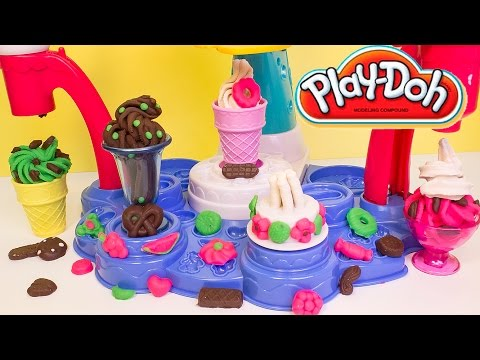 Thumbnail: Play Doh Magic Swirl Ice Cream Shoppe Hasbro Playset Toys Review Play-Doh Magic Swirl Machine