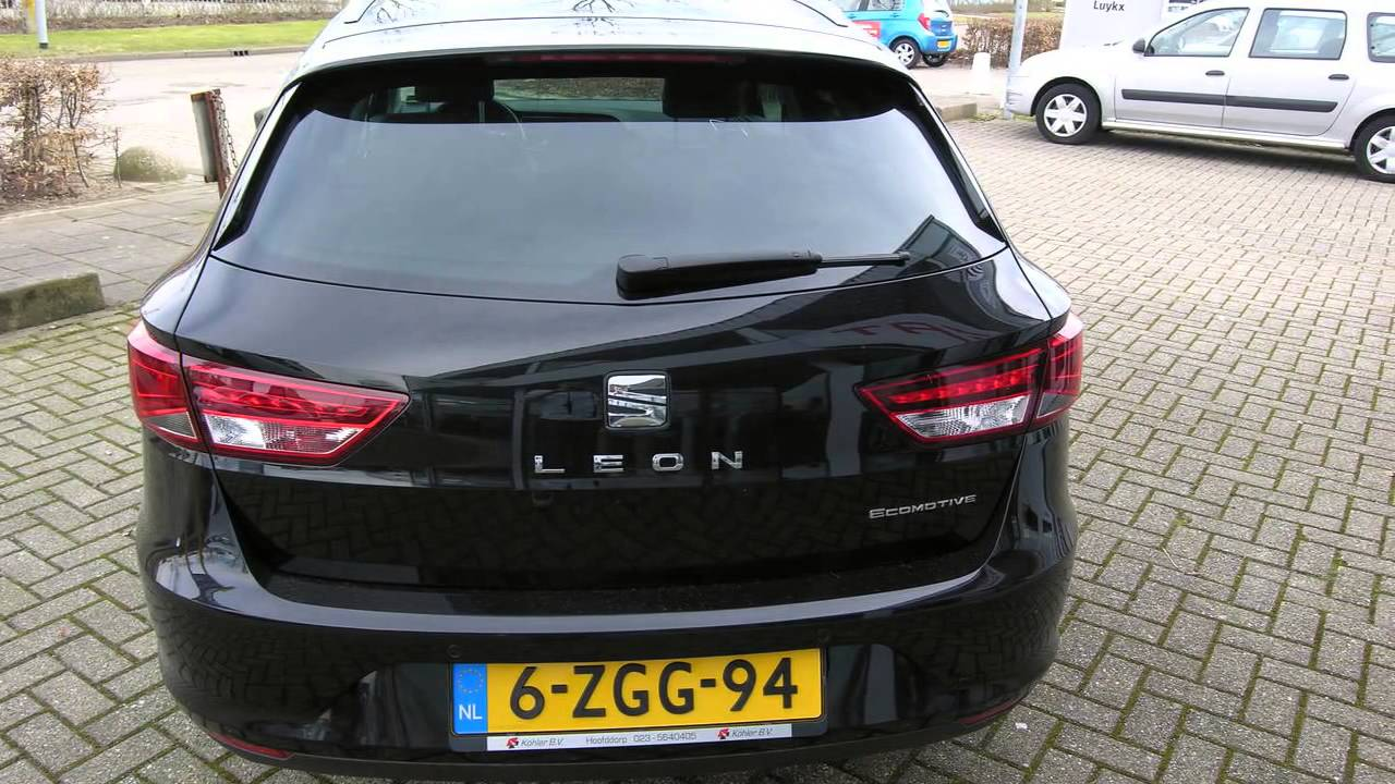 seat leon st 1 6 tdi ecomotive lease sport 140pk youtube. Black Bedroom Furniture Sets. Home Design Ideas