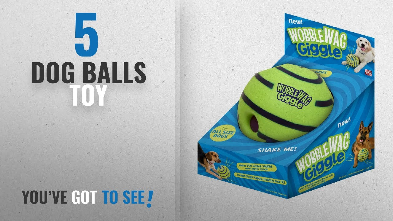 Top 5 Dog Balls Toy [2018 Best Sellers]: Allstar Innovations Wobble Wag Giggle Ball, Dog Toy, As