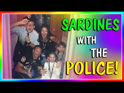 SARDINES WITH THE POLICE! | HIDE AND SEEK | We Are The Davises