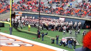 Ohio State Marching Band Stand Tunes at Illinois Away Game 11 16 2013