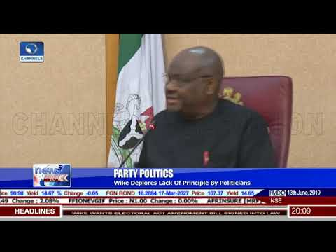 Wike Deplores Lack Of Principle By Politicians