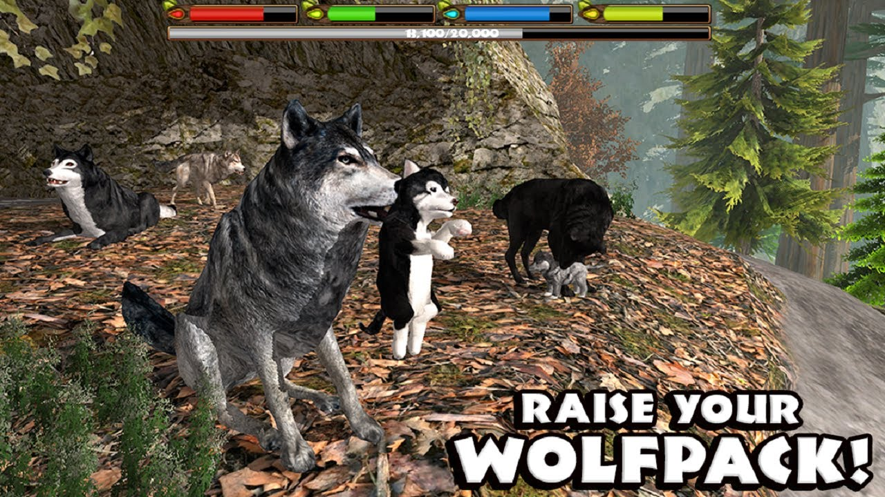 Ultimate Wolf Simulator - Raise a Family - Android/iOS - Gameplay