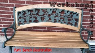 How To Do A Park Bench Restoration.