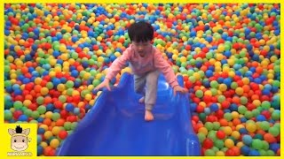 Indoor Playground Fun Play for Kids and Family Slide Rainbow Colors Balls | MariAndKids Toys